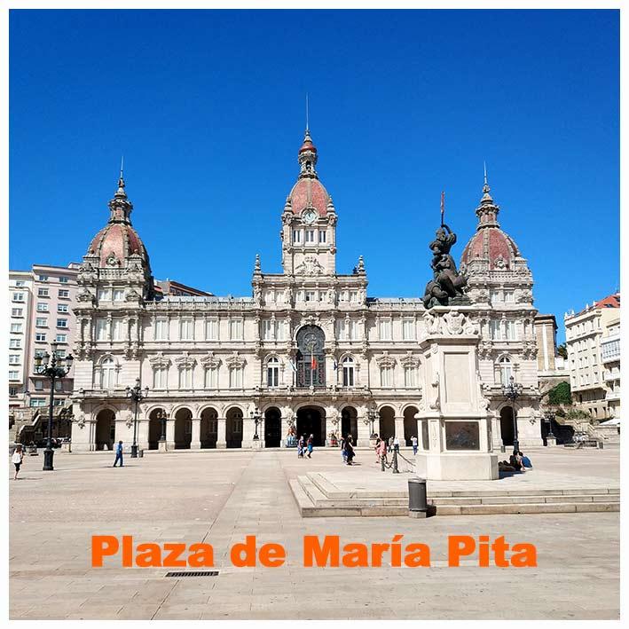 Plaza-de-maria-pita la princesa de los apostoles